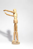 Wooden figure concepts signs Royalty Free Stock Photo