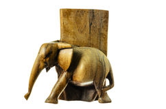 Wooden figure of an elephant. Stock Photos