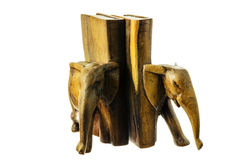 Wooden figure of an elephant. Royalty Free Stock Photo