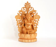 Wooden figure of God, souvenir gift, India Royalty Free Stock Images