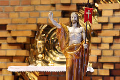 Wooden figure of Jesus resurrected Royalty Free Stock Photo