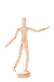 Wooden figure mannequin stock photo