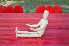 Wooden figure Stock Images