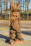 Wooden figure sculptured with a chain saw Stock Image