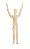 Wooden figure show 2 hands up over the head Stock Photography