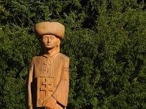 Wooden Figure - Slovak Legend Juraj Janosik stock photography