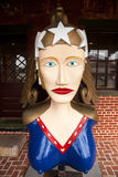 Wooden figurehead carved for schooner Freedom Royalty Free Stock Photos