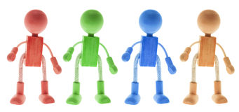 Wooden Figures Royalty Free Stock Image