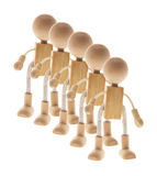 Wooden Figures Stock Photos