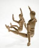 Wooden figures Stock Photo