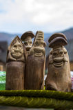 Wooden figures of people Stock Photography