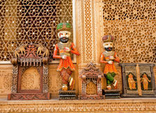 Wooden figures of Rajasthan men and souvenirs Stock Photo
