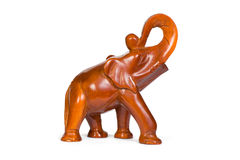Wooden figurine elephant Stock Photos