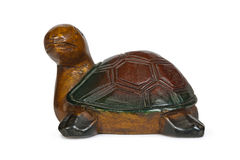 Wooden figurine of turtle Royalty Free Stock Image