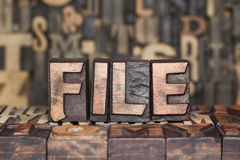 Wooden file concept Royalty Free Stock Photography