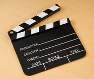 Wooden Film Slate Stock Photo
