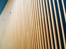 Wooden Fin Facade Royalty Free Stock Photography