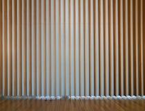 Wooden fin facade interior Royalty Free Stock Photo