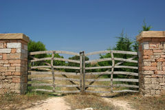 Wooden finca gates Royalty Free Stock Photo