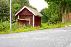 Wooden finnish house Stock Images