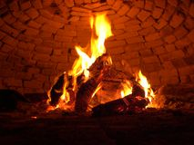 Wooden fire Stock Images