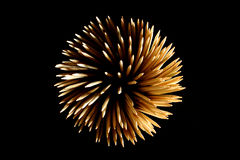 Wooden Fireworks Stock Images
