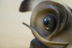 Wooden fish statuette Royalty Free Stock Photos