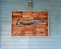 Wooden fish Stock Images