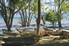 Wooden fisherman boats Royalty Free Stock Photos