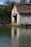 Wooden fisherman house on Mekong river Stock Photography