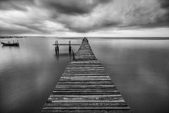 Wooden fisherman jetty Stock Image