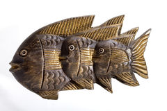 Wooden fishes Royalty Free Stock Photography