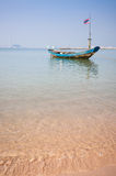 Wooden fishing boat. On the beach Stock Images