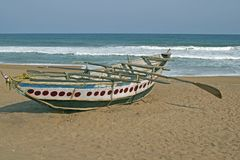 Wooden Fishing Boat Stock Photography