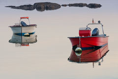 Wooden fishing boat on a background of water Royalty Free Stock Photo