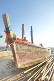 Wooden fishing boat. Stock Photo