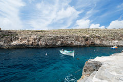 Wooden fishing boat at Gozo island Malta. Traditional fishing boat at Gozo island, Malta Royalty Free Stock Image