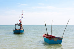Wooden fishing boat royalty free stock photo