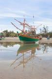 Wooden fishing boat Stock Photo