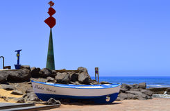 Wooden fishing boat on Maui beac Stock Image