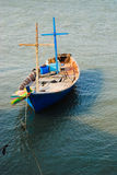 Wooden fishing boat at the pier Royalty Free Stock Image