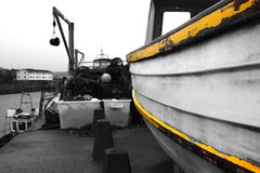 Wooden fishing boat on a quayside Royalty Free Stock Photography