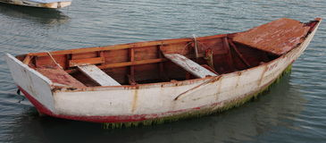 Wooden fishing boat Stock Images