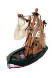 Wooden Fishing Boat Toy Royalty Free Stock Images