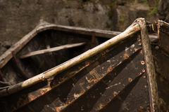 Wooden fishing boat. At Vestmanna - Stremoy - Faroe Islands Royalty Free Stock Images
