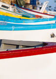 Wooden fishing boats in closeup Royalty Free Stock Image
