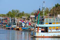 Wooden fishing boats Stock Image