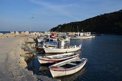Wooden fishing boats Royalty Free Stock Photo