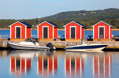 Wooden fishing huts Stock Images