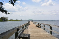 Wooden Fishing Pier Royalty Free Stock Photos